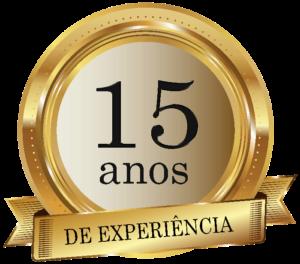 selo 15 anos de experiência